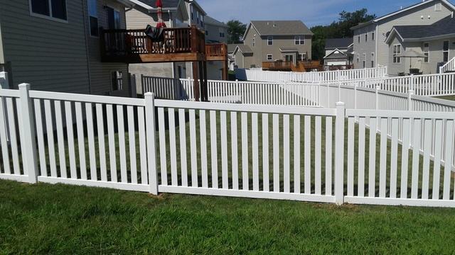 O'Fallon, MO Vinyl Fence Installation - After Photo