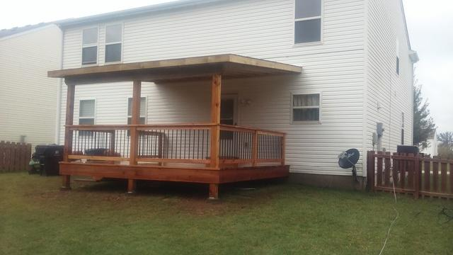 Belleville, IL Covered Wooden Deck Installation - After Photo