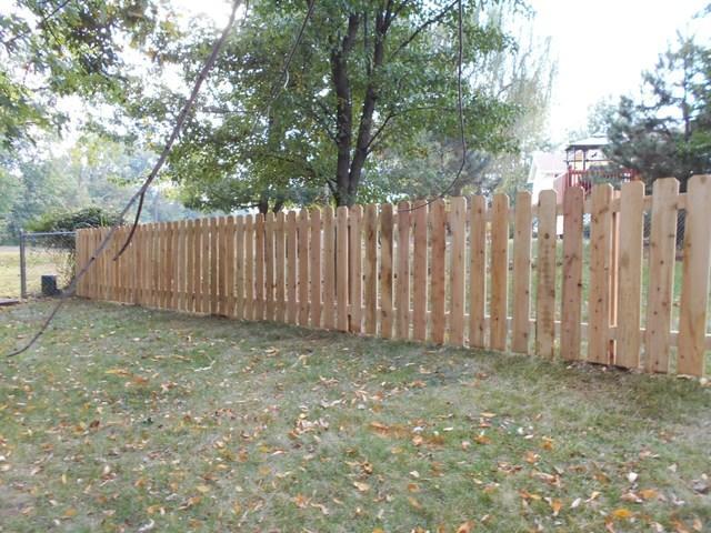 O'Fallon MO Cedar Fence Installation