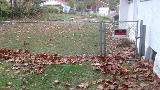 Metal Fence Installation in University City, MO - Before Photo