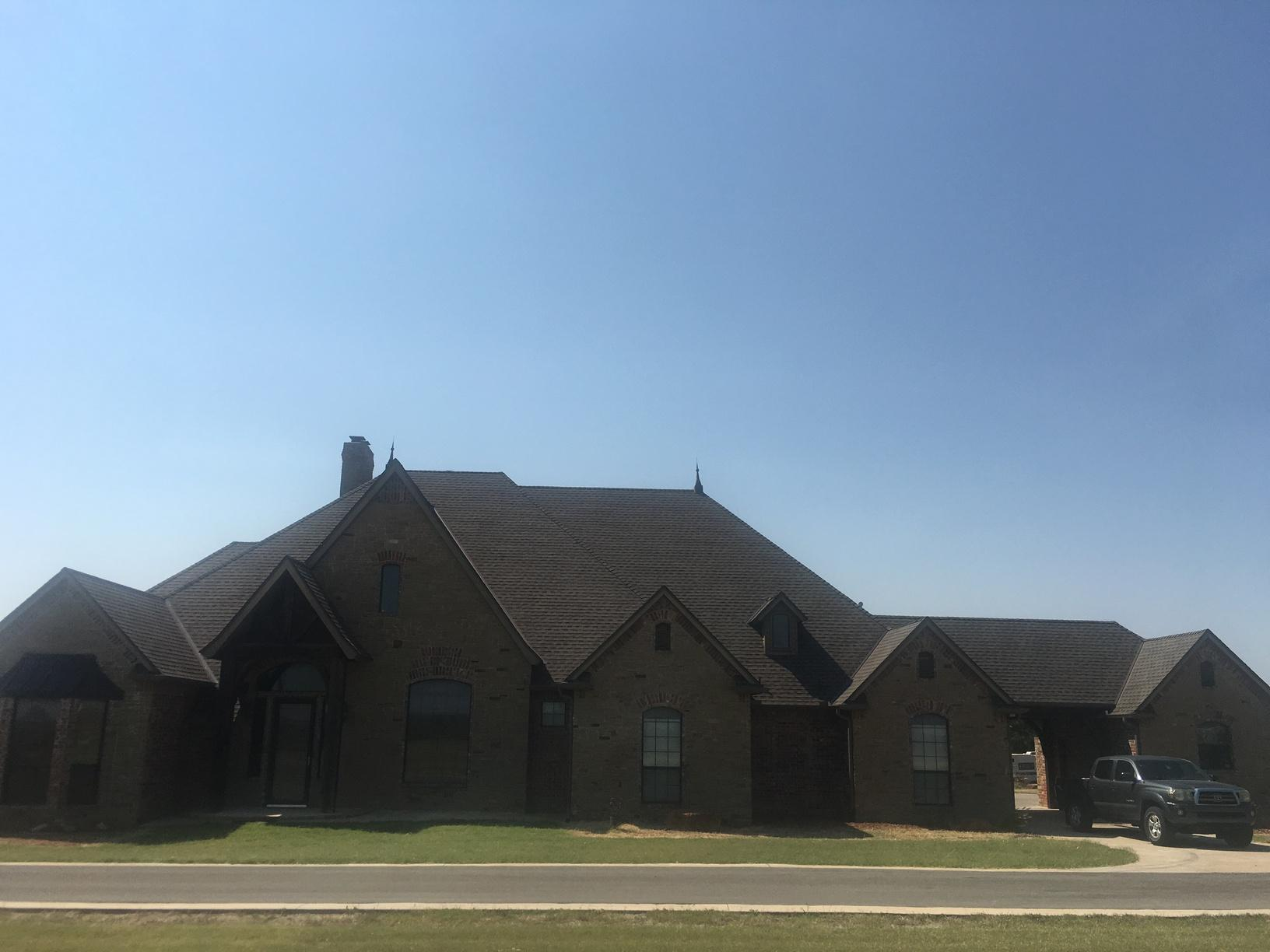 Guthrie, OK Roof Replacement - Before Photo