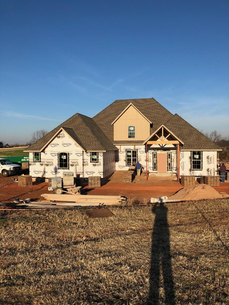 New Home Construction gets New Roof in Goldsby - After Photo
