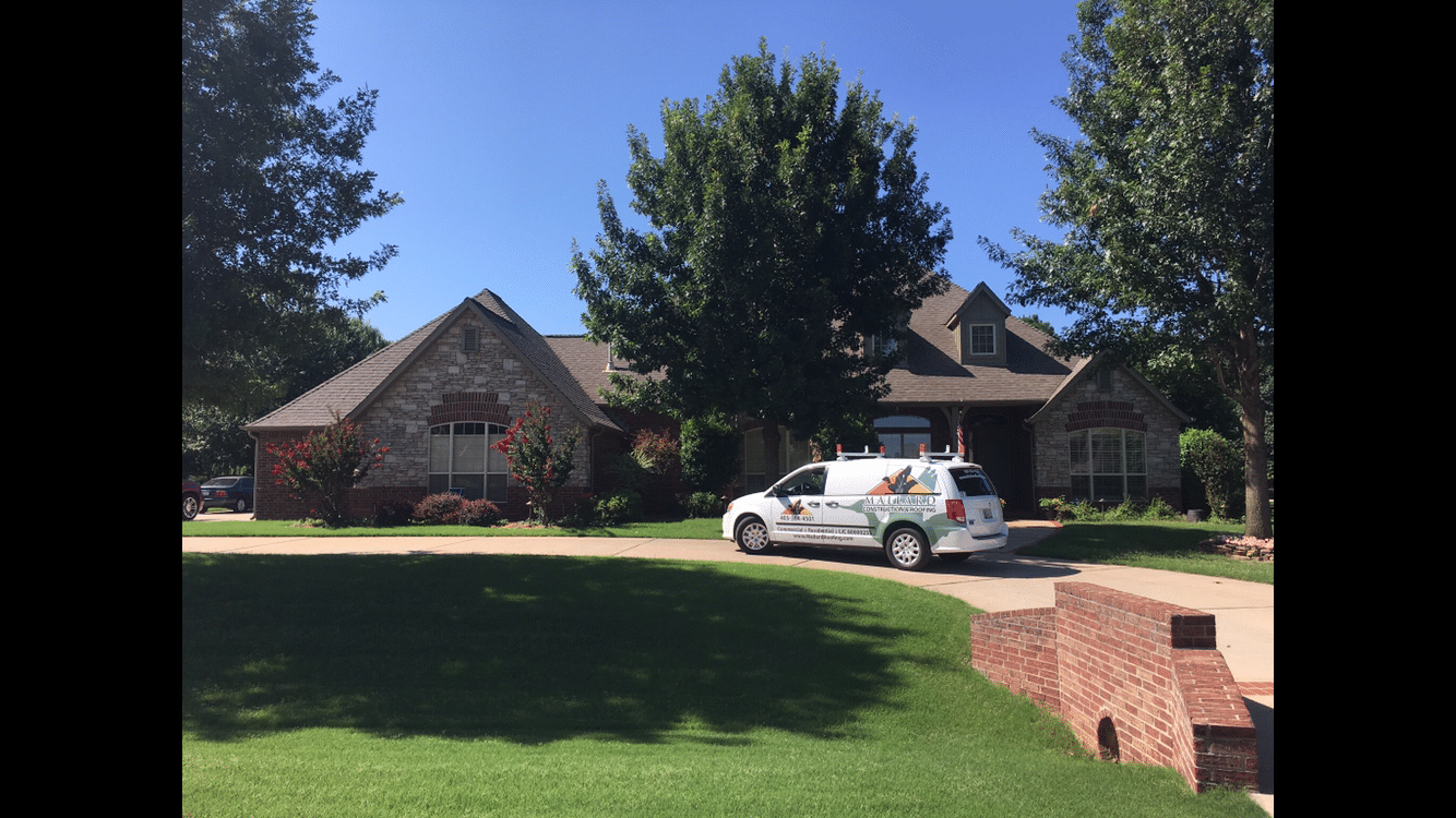 New Roof Installation in Broken Arrow - Before Photo