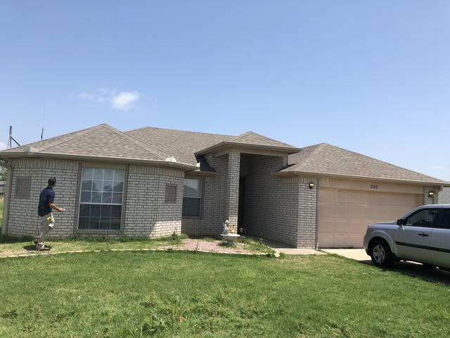 New Roof Installation in Lone Grove, Ok - Before Photo
