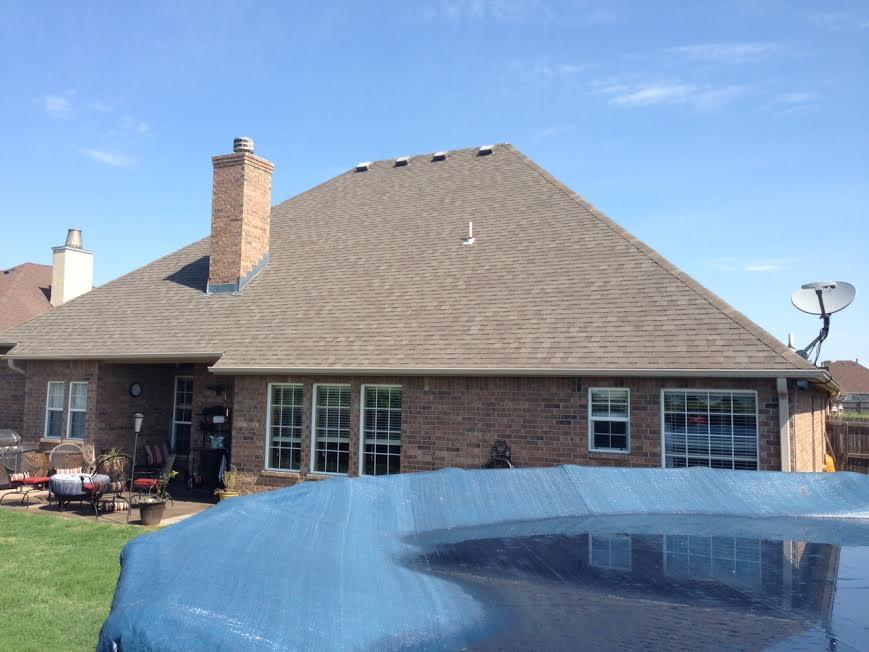 Backyard Roof Replacement in Muskogee, Ok - Before Photo