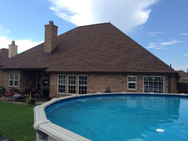 Backyard Roof Replacement in Muskogee, Ok