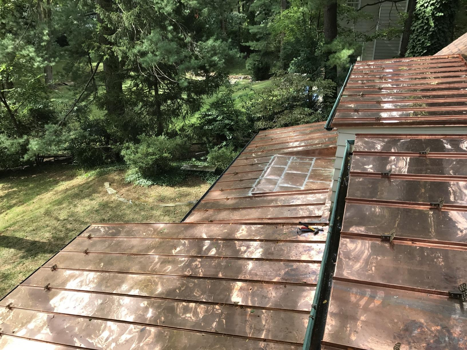 Bryn Mawr - Certainteed Landmark Shingles and Copper Standing Seam Roof - After Photo