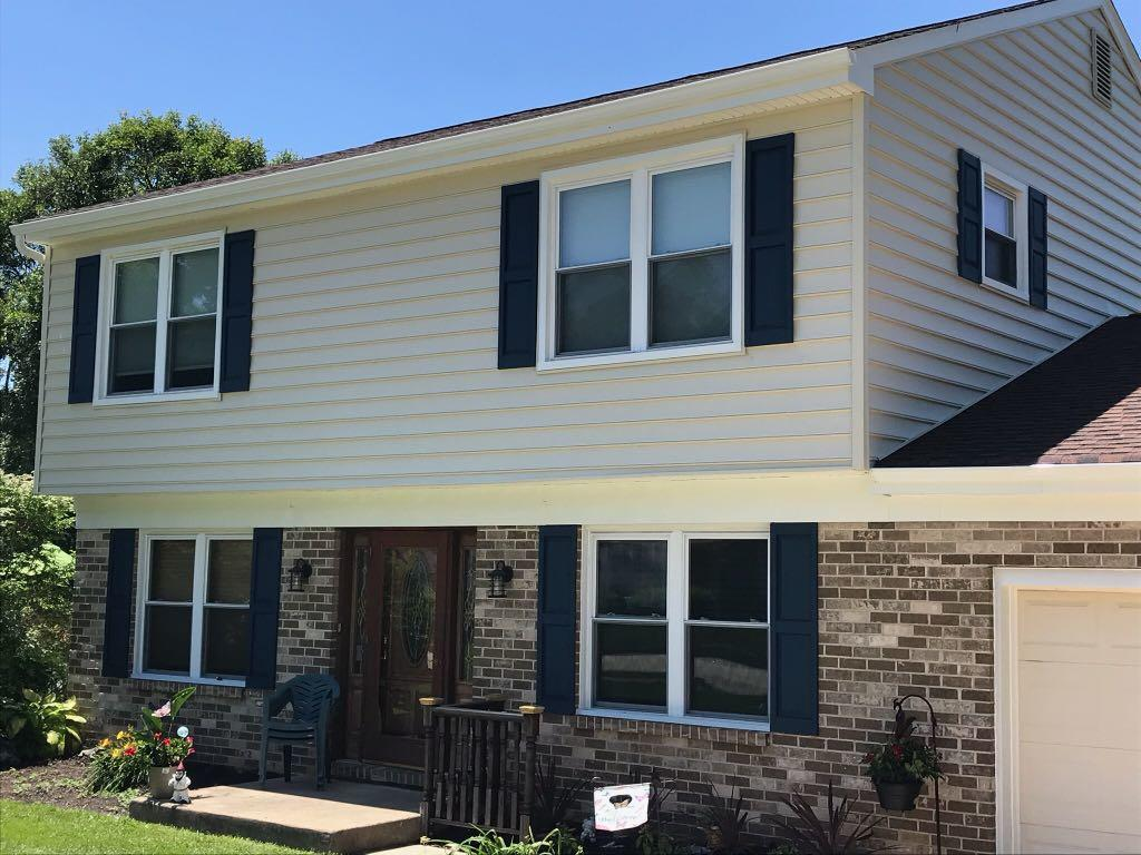 Storm Damaged home in Plymouth Meeting Pa Replaces Siding Capping and Gutters! - After Photo