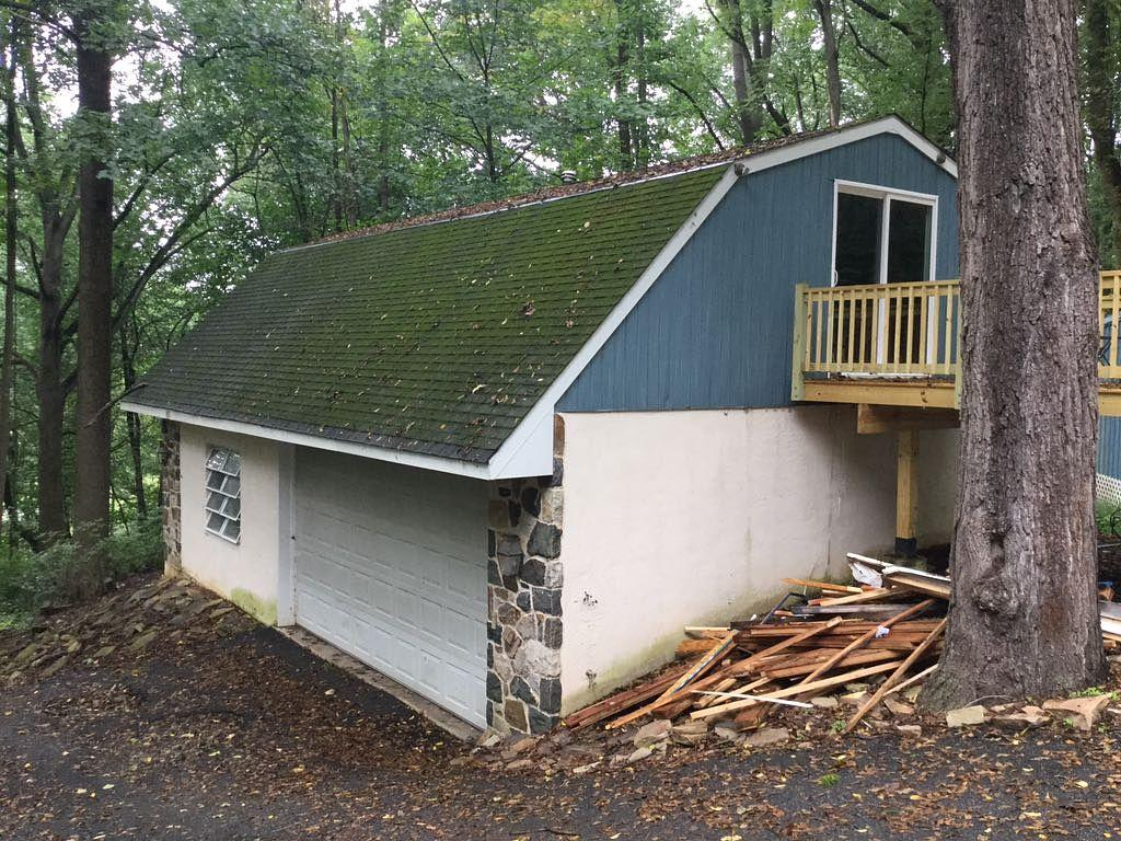 Garage Roof Replacement in Landenburg - Before Photo