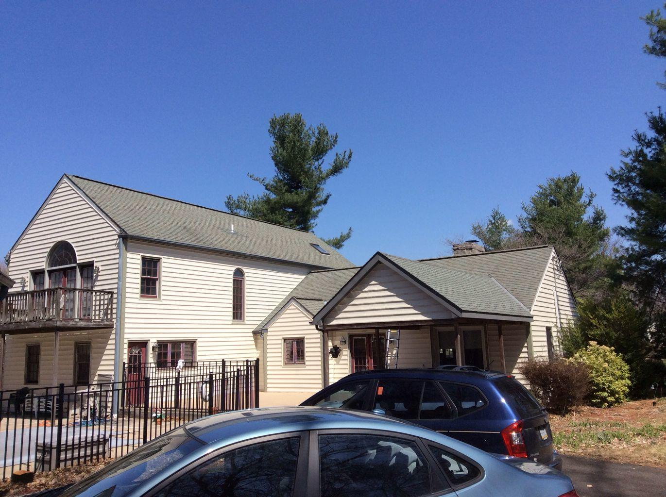 Roof Replacement in Doylestown, PA - Before Photo