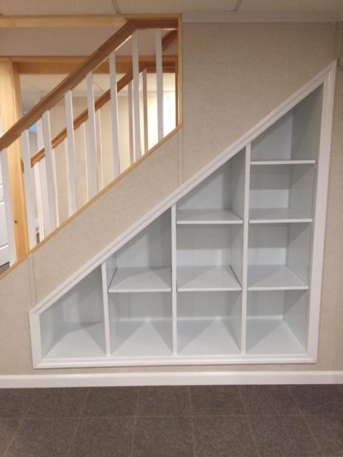Beautiful Stairs with Extra Storage in Diamond Point, NY - After Photo