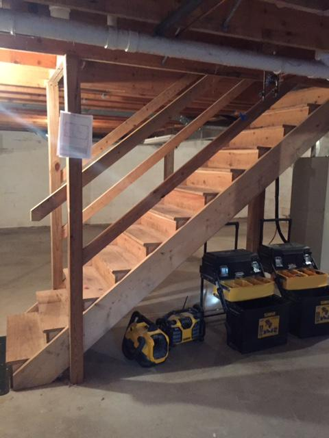 Beautiful Stairs with Extra Storage in Diamond Point, NY - Before Photo