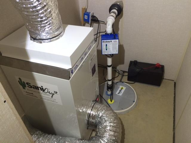 SaniDry and Sump Pump Installation