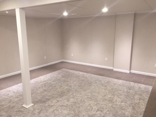 Dry, Clean, & Beautiful Finished Basement in Mechanicville, NY