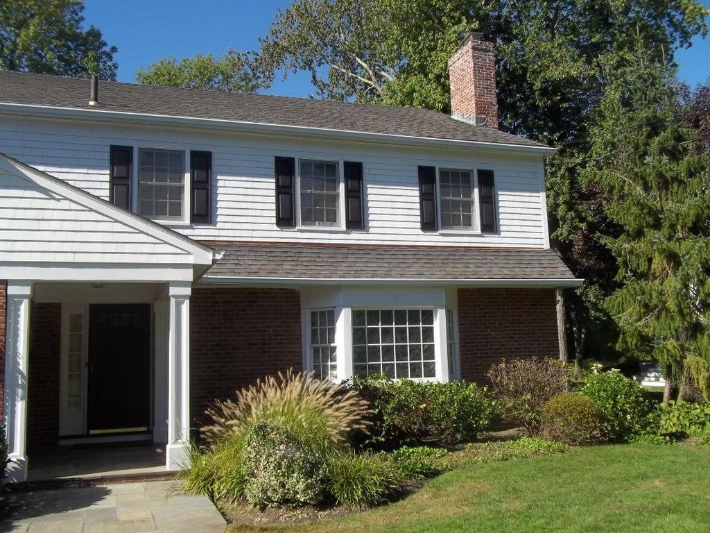 White Cedar Siding installation for this classic home in Scarsdale, NY - After Photo