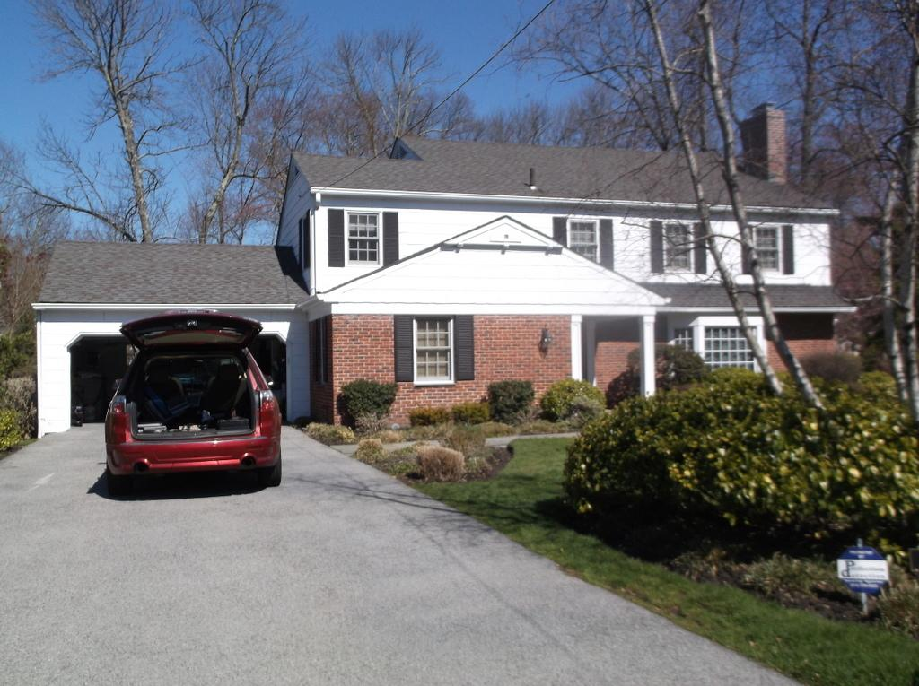 White Cedar Siding installation for this classic home in Scarsdale, NY - Before Photo