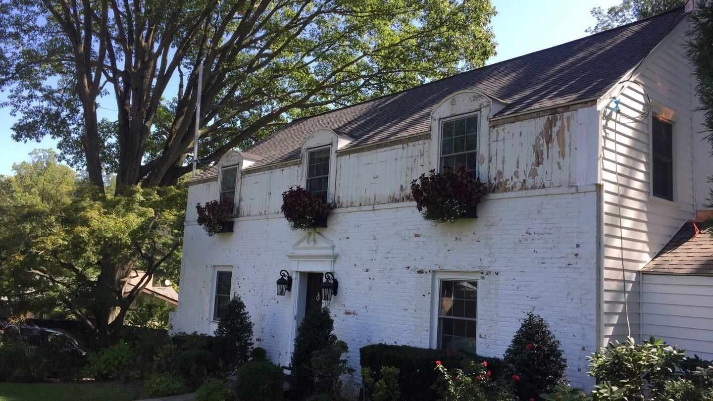 A new exterior remodel  for this 1946 home in Scarsdale, NY - Before Photo