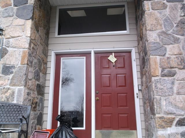 Therma Tru Doors Installed in Harrison, New York - Before Photo