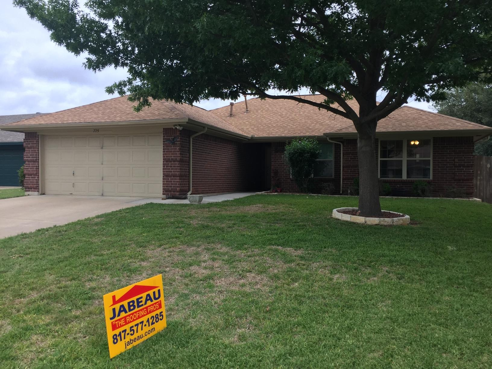 Roof replacement in Burleson, Tx - After Photo