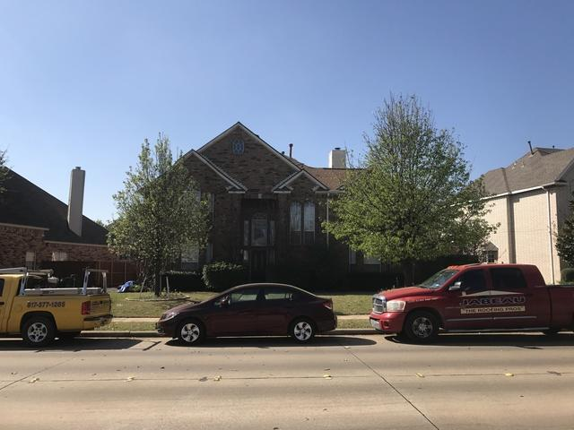 Roofing Replacement in Plano, TX - Before Photo