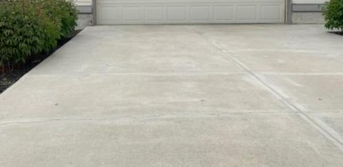 Driveway Leveling and Crack Repair in Edmonton, AB - Before Photo