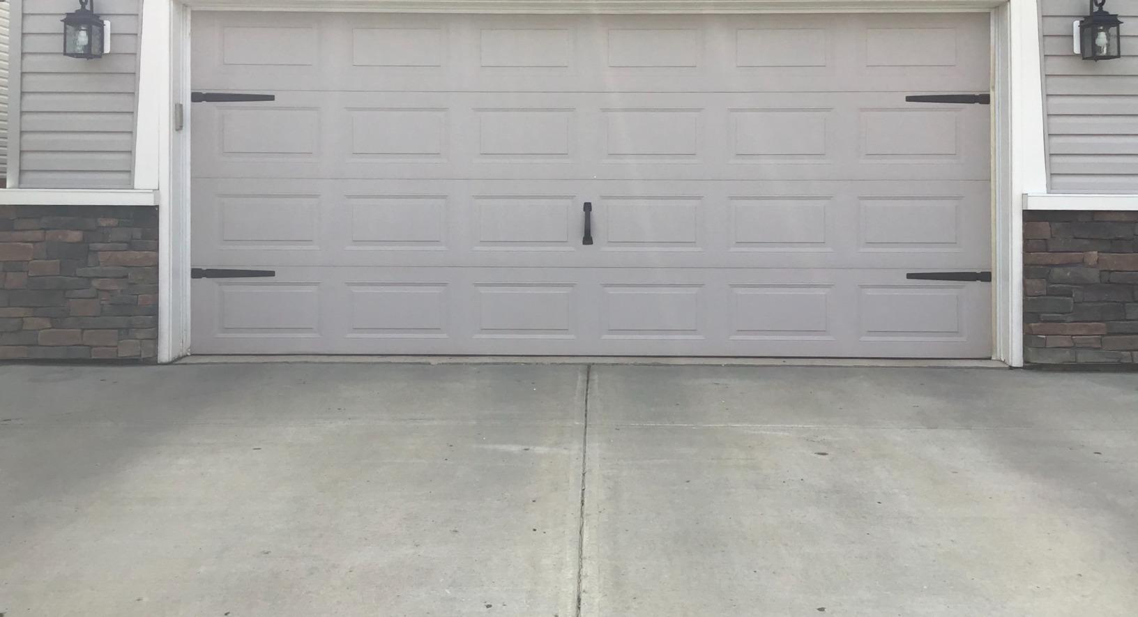 Sunken Driveway Leveled to Meet Garage Pad in Edmonton, AB - After Photo