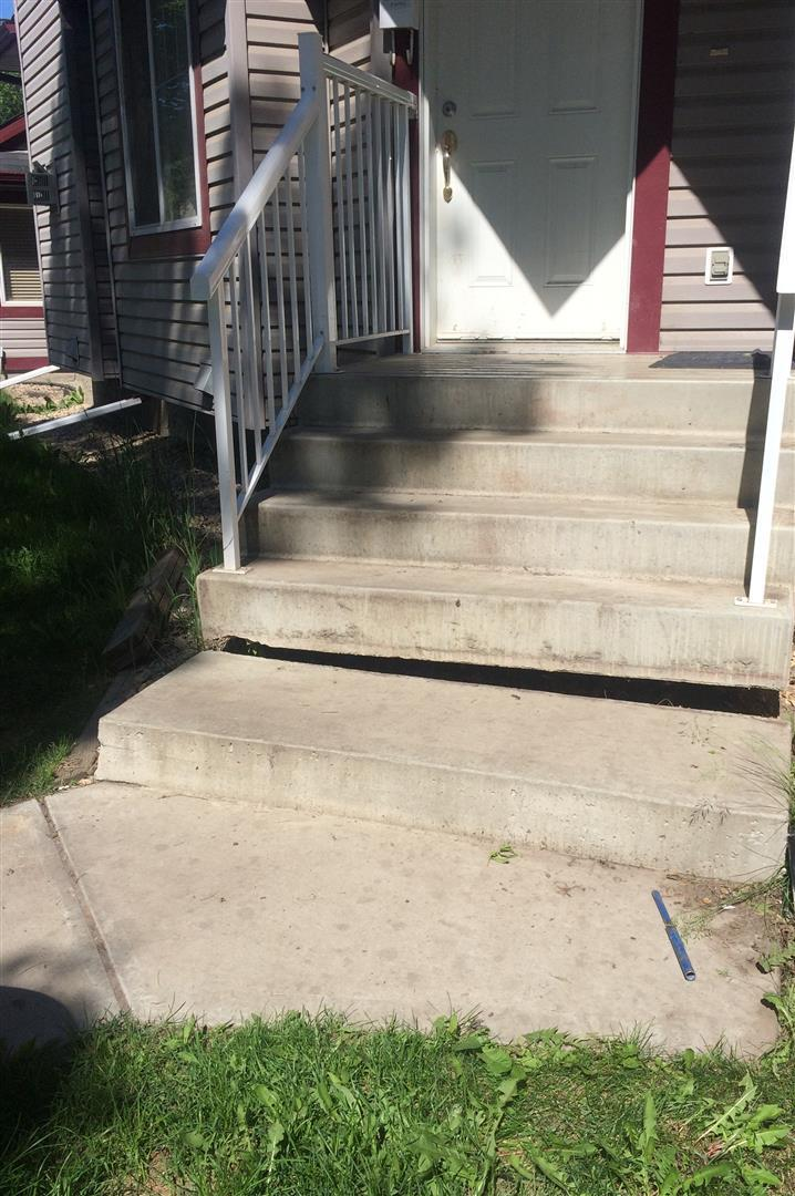 Concrete Steps Lifted in Edmonton, AB (Click Photos to Enlarge) - Before Photo