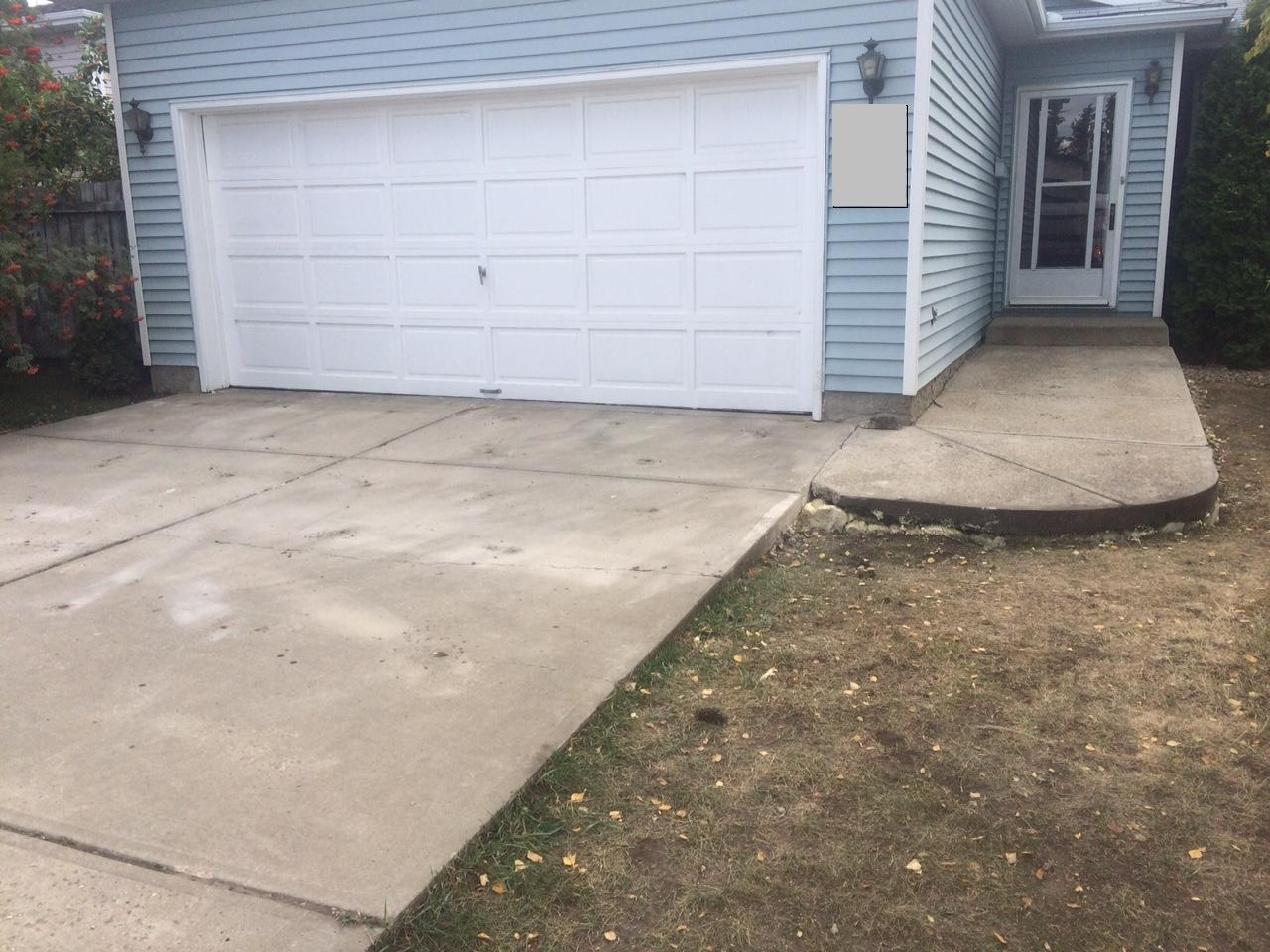 Driveway & Sidewalk Lifted in Edmonton, AB (Click Photos to Enlarge) - After Photo