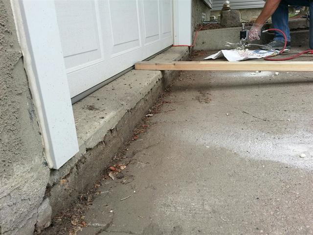 Concrete Driveway Lifted in St. Albert, AB