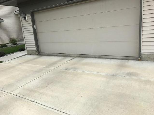 Lifting and Leveling of Driveway in Edmonton, AB - Before Photo