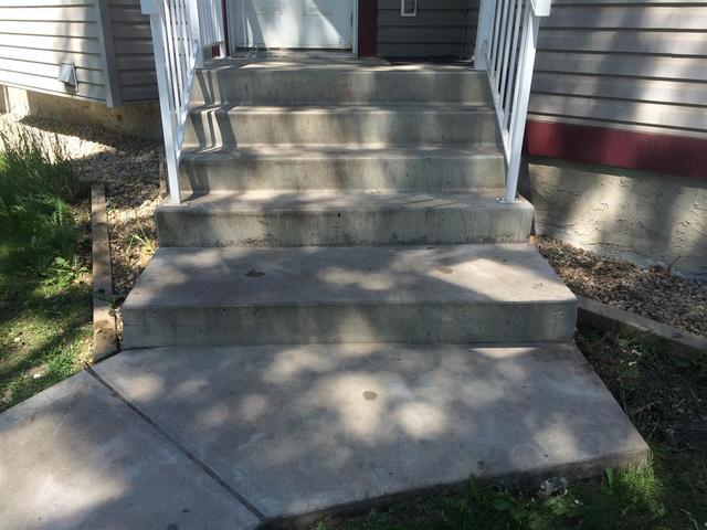 Concrete Steps Lifted in Edmonton, AB (Click Photos to Enlarge) - After Photo