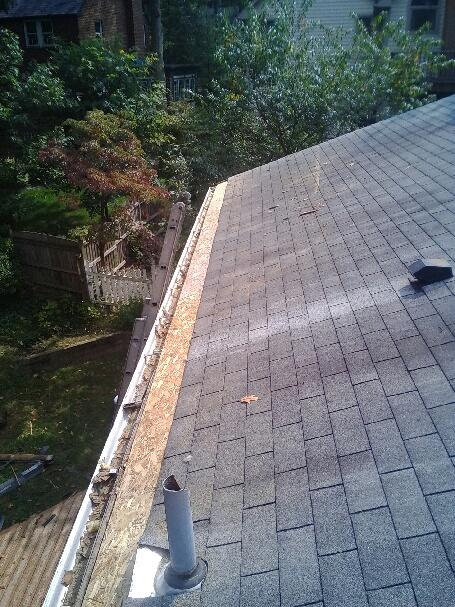 Roof Repair in Silver Spring, MD - Before Photo