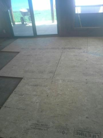 Hardwood Flooring Installed over Concrete Slab in Lusby, MD