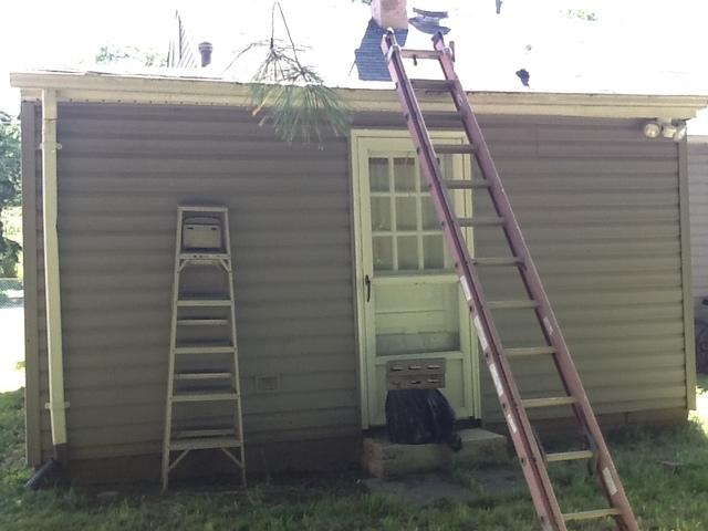 New Gutters in Falls Church, VA - Before Photo