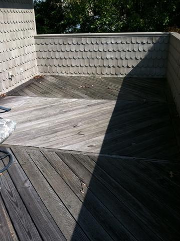 Leaking Deck Roofing Repair and Resurfacing in Bethesda, MD - Before Photo