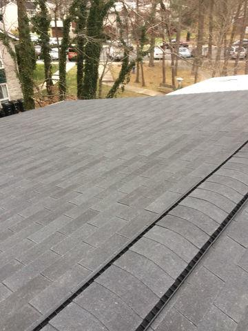 New Roof in Time for the Season's First Snow in Lanham, Maryland