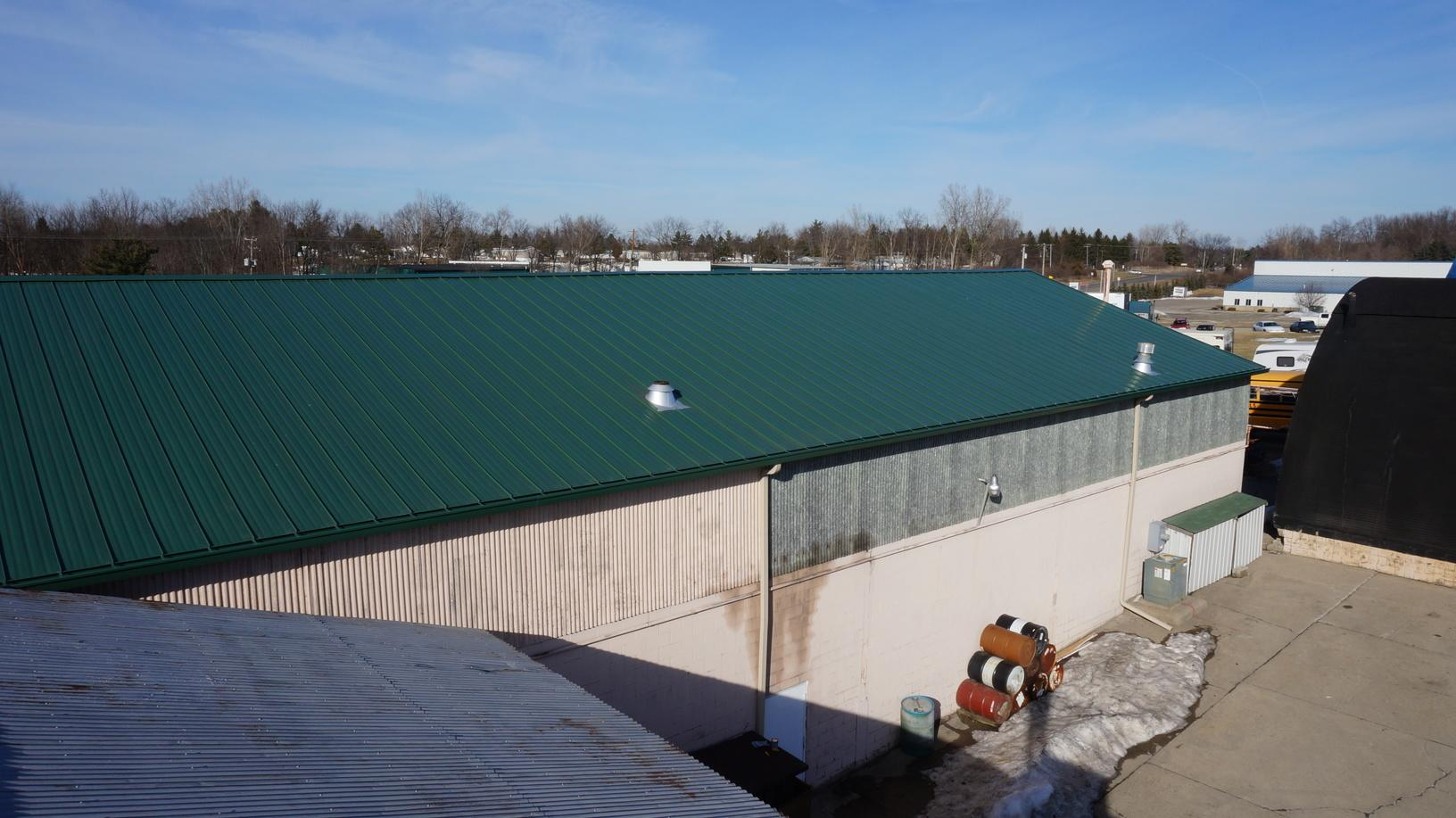 A Commercial Building Gets A New Metal Roof! - After Photo