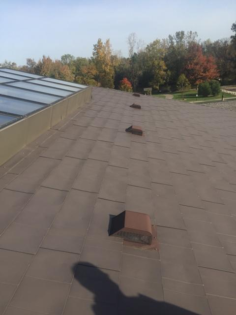 Replace commercial flat roof - Williamston, MI - Before Photo