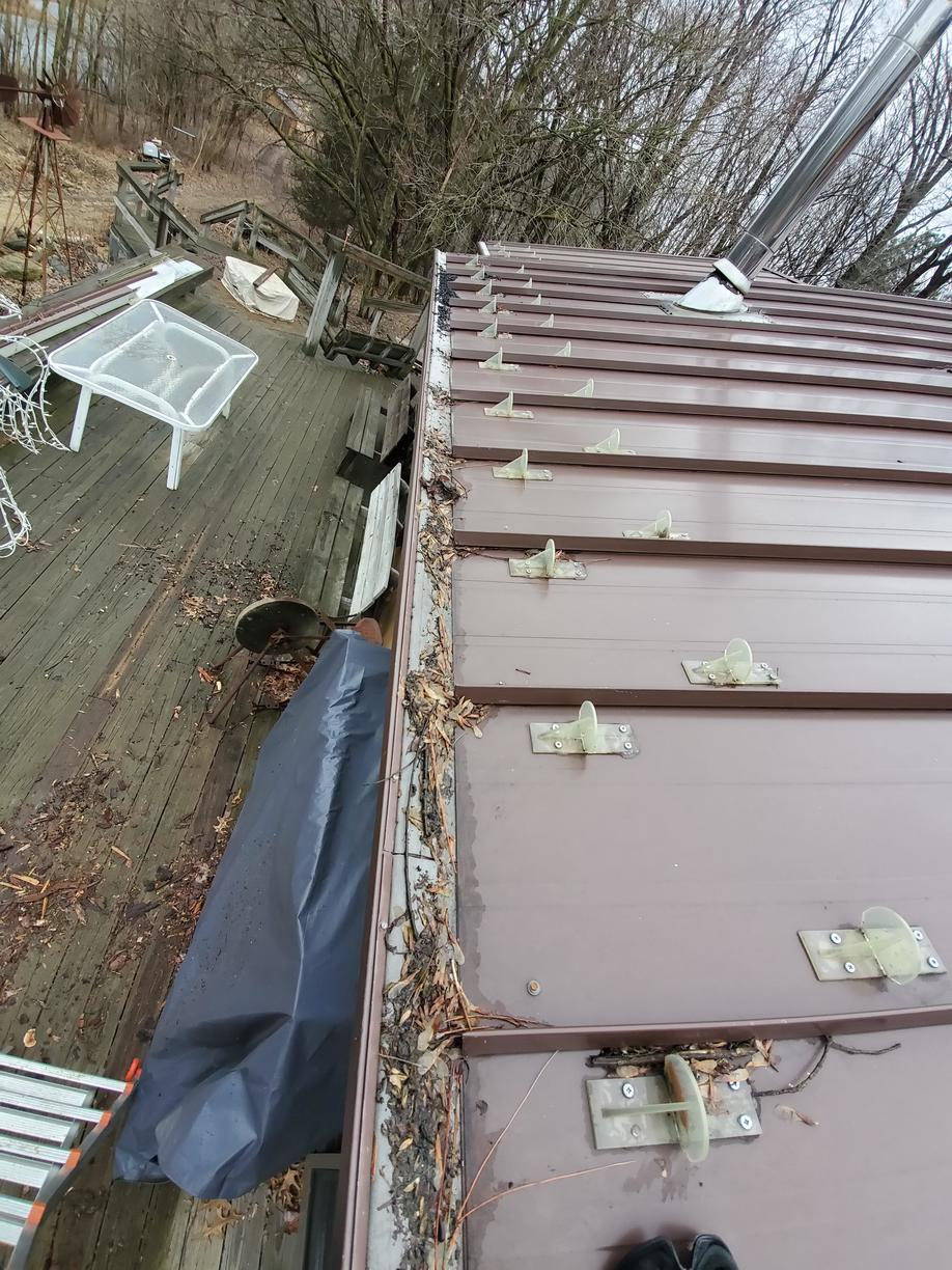 Standing Seam Metal Roof in Grass Lake, MI - Before Photo
