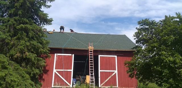 Barn Re-Roof in Pleasant Lake, MI