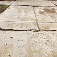 Driveway Repair in Dallas, TX - Before Photo