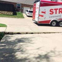 Driveway Leveled in Dallas, TX - Before Photo