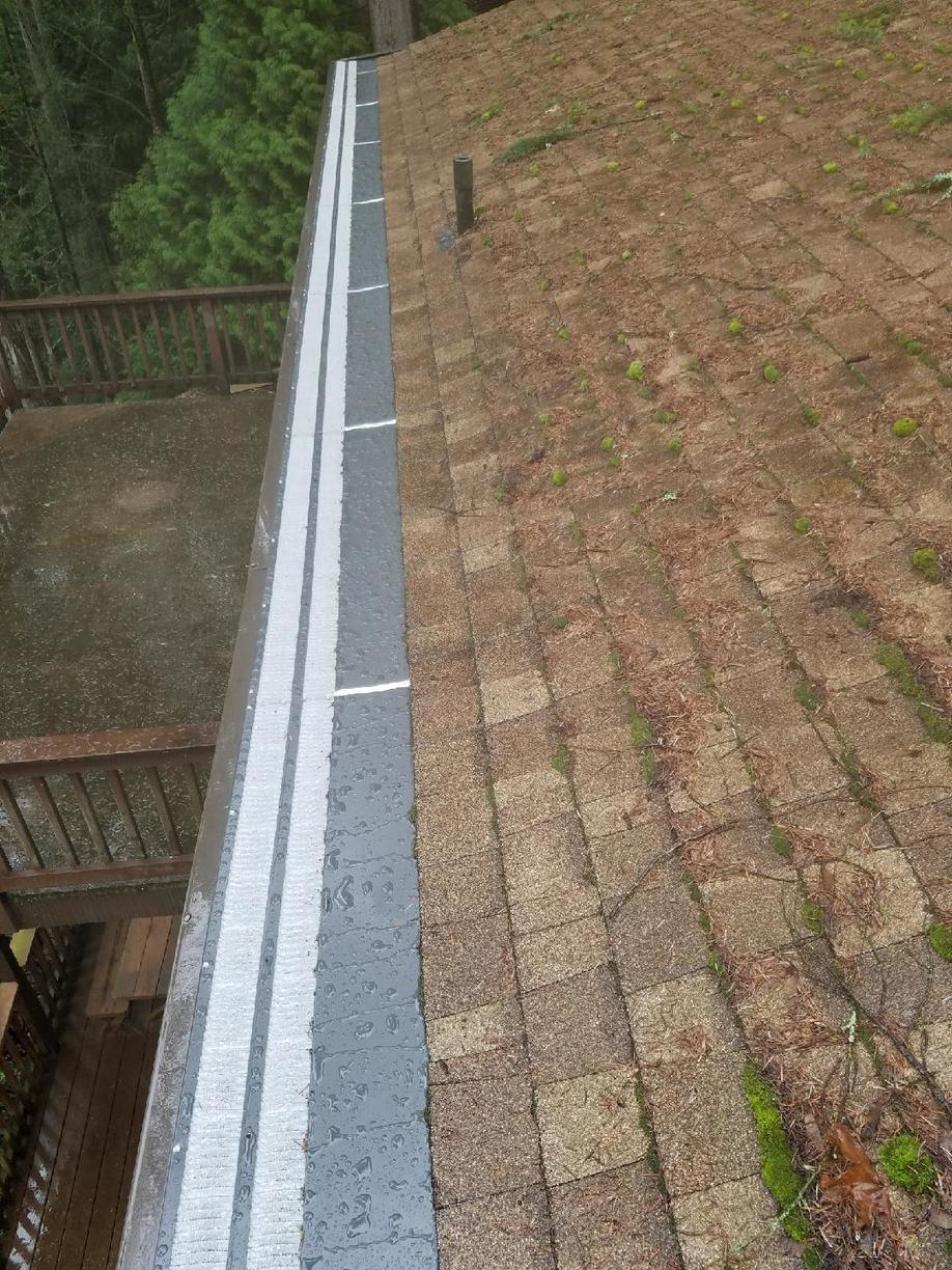 Commercial Double-Run Valor Gutter Guard - Woodinville - After Photo