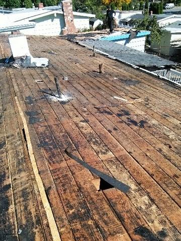 IB Roofing & replaced plywood sheathing - Before Photo