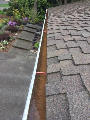 Valor Gutter Guard & gutters - Woodinville - Before Photo