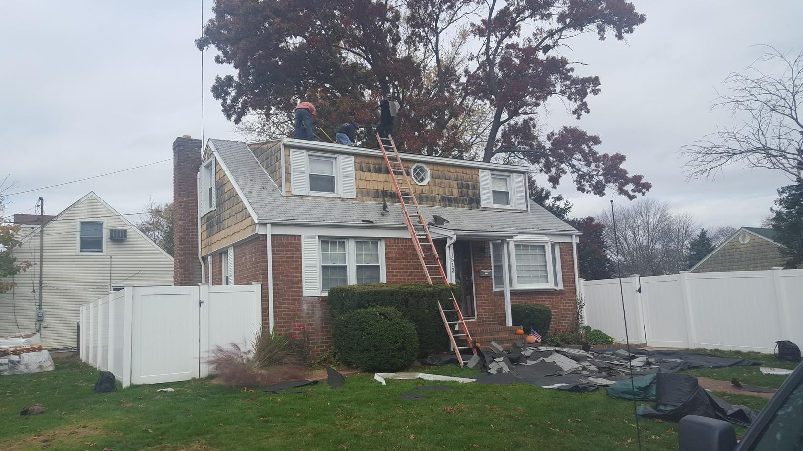 New Siding and Roofing Installation in Merrick, NY - Before Photo