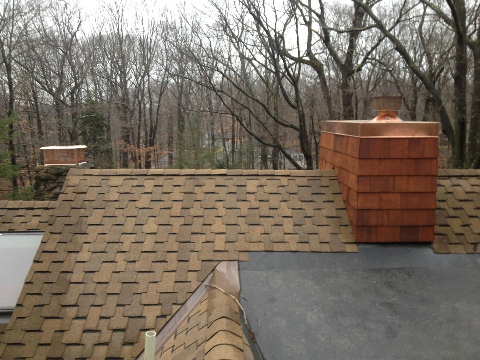 Copper Chase Cover Installation in Norwalk, Connecticut - After Photo