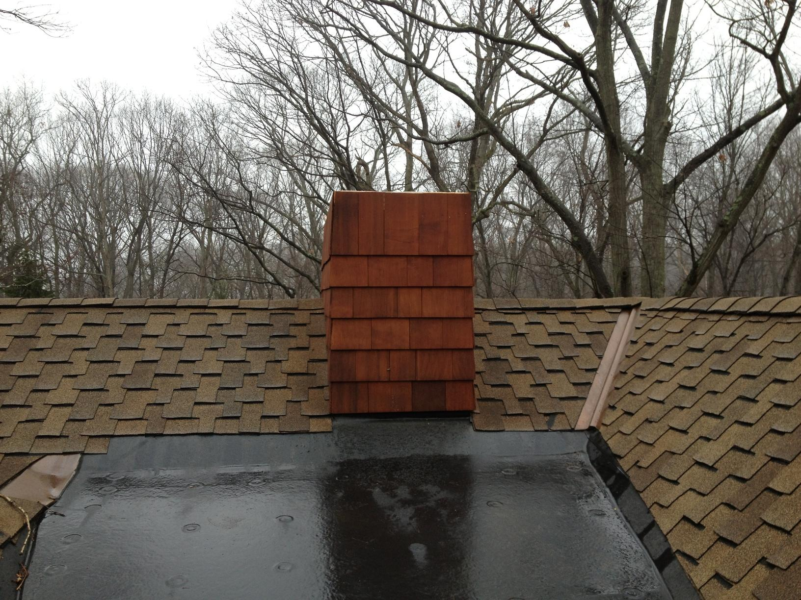 Copper Chase Cover Installation in Norwalk, Connecticut - Before Photo