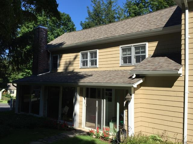 New Roof and Chase Installed in Ridgefield, Connecticut