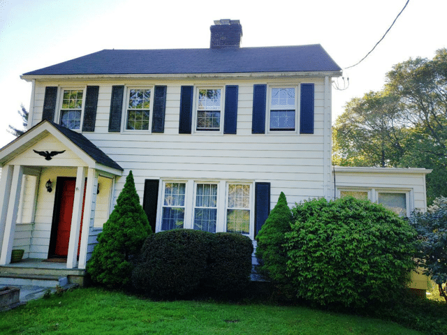 Roof Replacement in Greenwich, CT - Before Photo